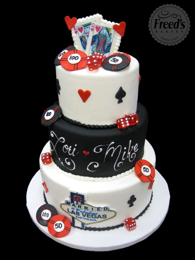 Las Vegas Themed Wedding Cake  Bakery Dreams  Pinterest