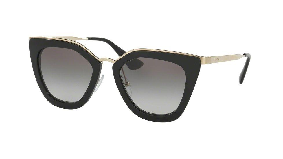 Prada PR53SS Sunglasses 1AB0A7-52 - Black Frame, Grey Gradient ...
