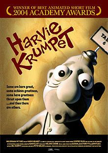 """Harvie Krumpet -- """"The story revolves around the life of Harvek Milos Krumpetzki, born in Poland in 1922. At the outbreak of World War II he comes to Spotswood in Australia as a refugee and changes his name to Harvie Krumpet. Despite a life filled with bad luck—such as having Tourette's Syndrome, being struck by lightning, and losing one of his testicles—Harvie remains ever optimistic. """""""