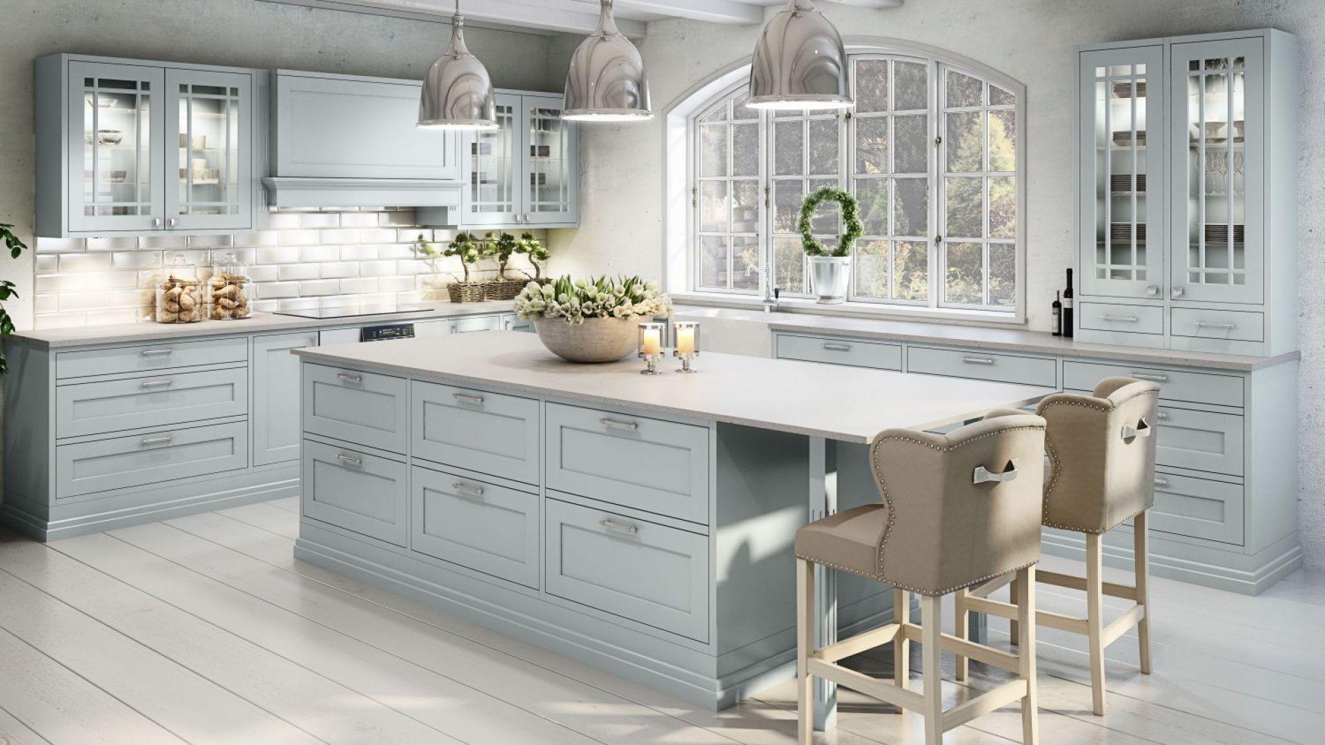 Klasyczna Kuchnia W Stylu Prowansalskim Kitchen Decor Open Plan Kitchen Dining Living Kitchen Inspirations
