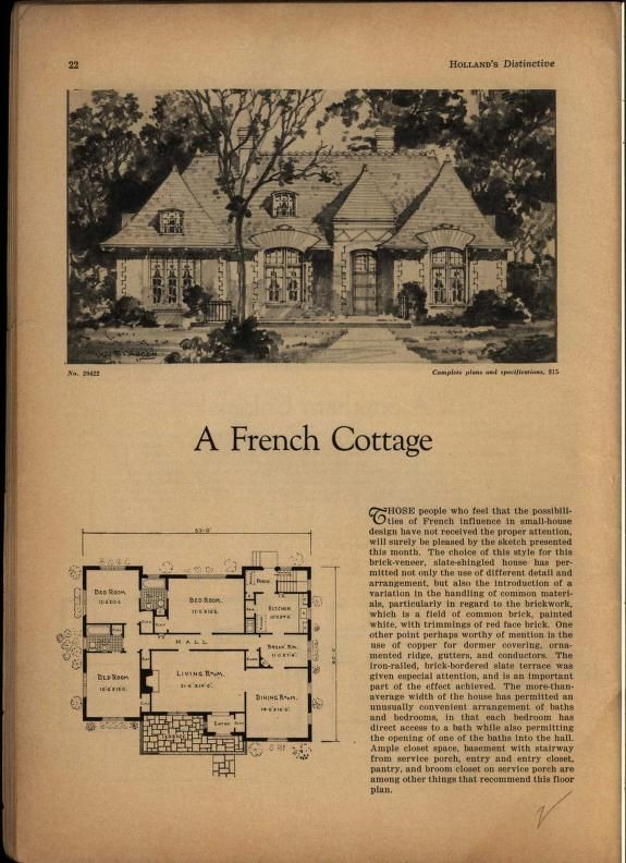 Holland S House Plans Holland S Magazine Free Download Borrow And Streaming Internet Archive French Cottage House Plans Holland House