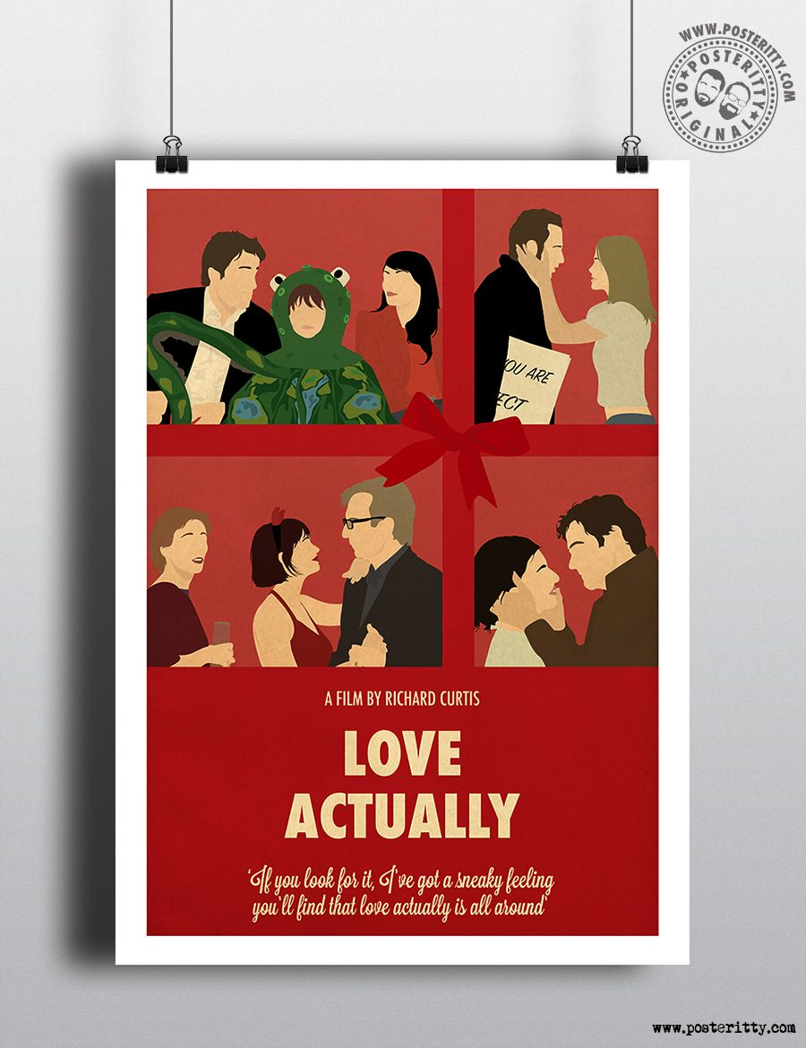 Minimalist Christmas Movie Poster Minimal Xmas Film Posteritty LOVE ACTUALLY