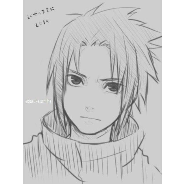 Sasuke Uchiha Not My Drawing Desenhos A Lapis Desenhos De