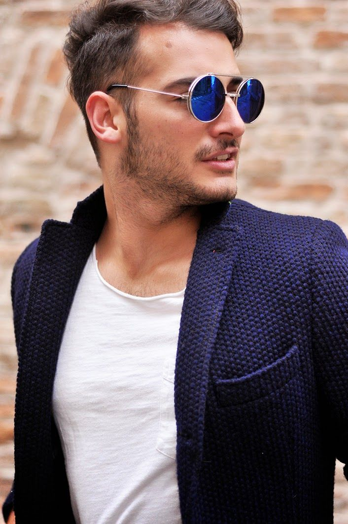 Aviator Mirror Blue Lens Men/'s Boys Fashion Retro Vintage Style Sunglasses Uk