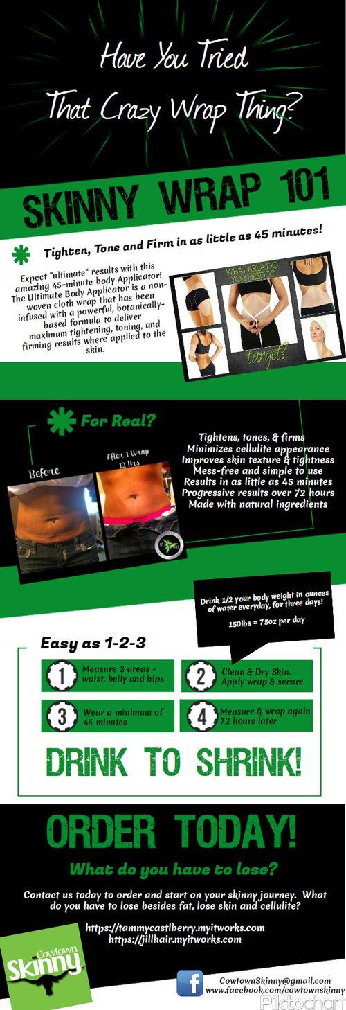 Have you tried Skinny Wraps Yet?  Skinny Wrap 101!  tammycastleberry.myitworks.com