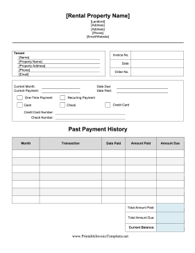 Landlords Can Use This Printable Rental Invoice As A Receipt For Tenants For Rent Late Fees And Damages Free To Download An Being A Landlord Rental Invoicing