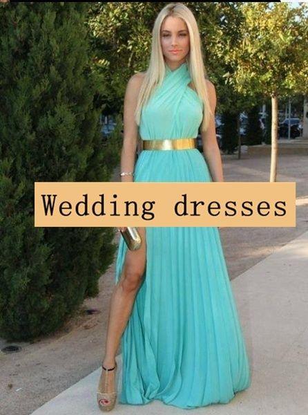 Long teal blue halter prom dress open back cheap wedding guest dress ...