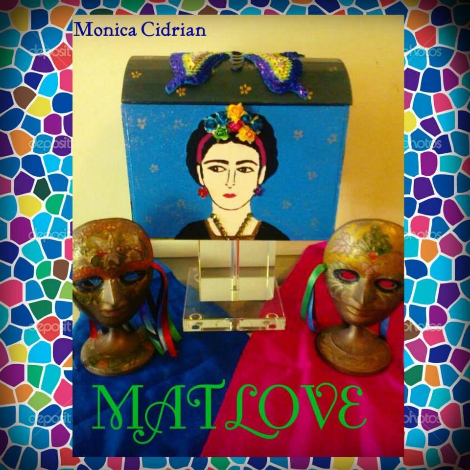 Cofre pintado a mano,de Frida Kahlo. De Matlove.Monica Cidrian.