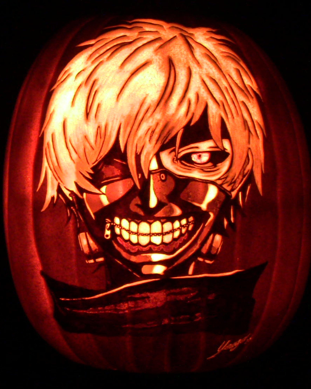 pumpkin template anime  Tokyo Ghoul Pumpkin in 6 | Pumpkin carving, Pumpkin ...