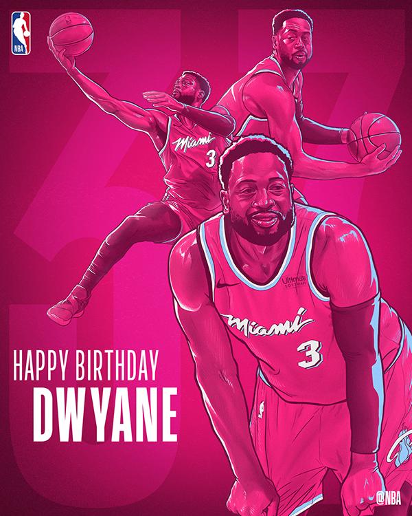 Nba Dwyane Wade Bday Illustration Miami Vice Edition On Behance Nba Dwyane Wade Nba Basketball Art