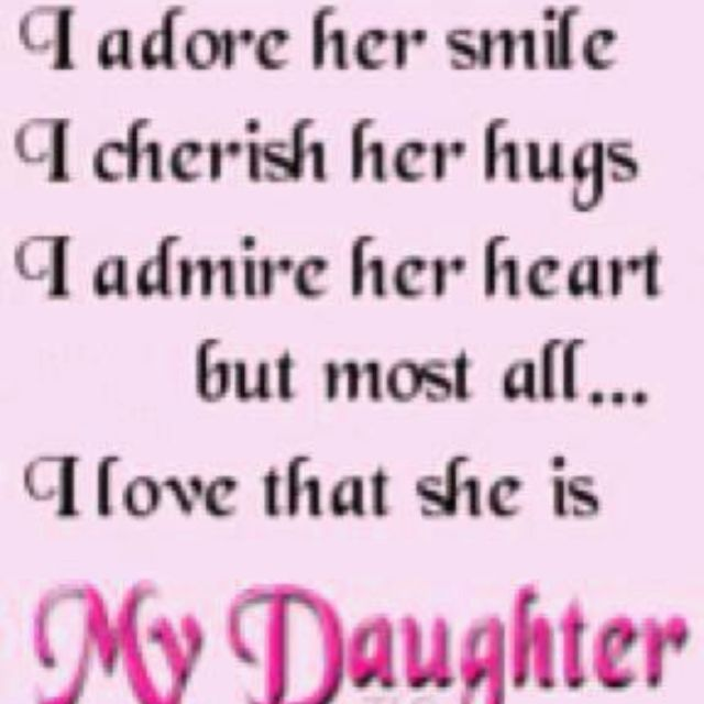 My One And Only Daughter Vicky Quotes I Love My Daughter To