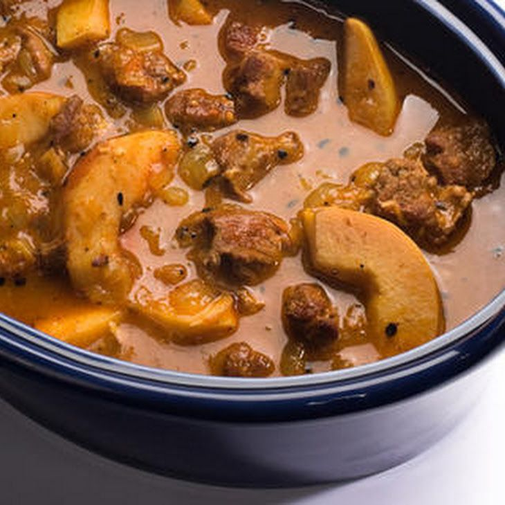 Tunisian Lamb and Quince Stew Recipe Main Dishes with coriander seeds, caraway seeds, garlic cloves, arbol chile, paprika, cayenne pepper, olive oil, lamb shoulder, kosher salt, ground black pepper, yellow onion, tomato paste, cinnamon sticks, saffron, low sodium chicken broth, quinces, honey