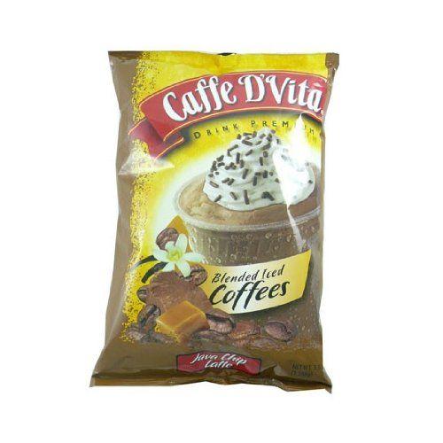 Caffe D'Vita Blended Iced Coffee-Java Chip Latte 3.5lb Bag