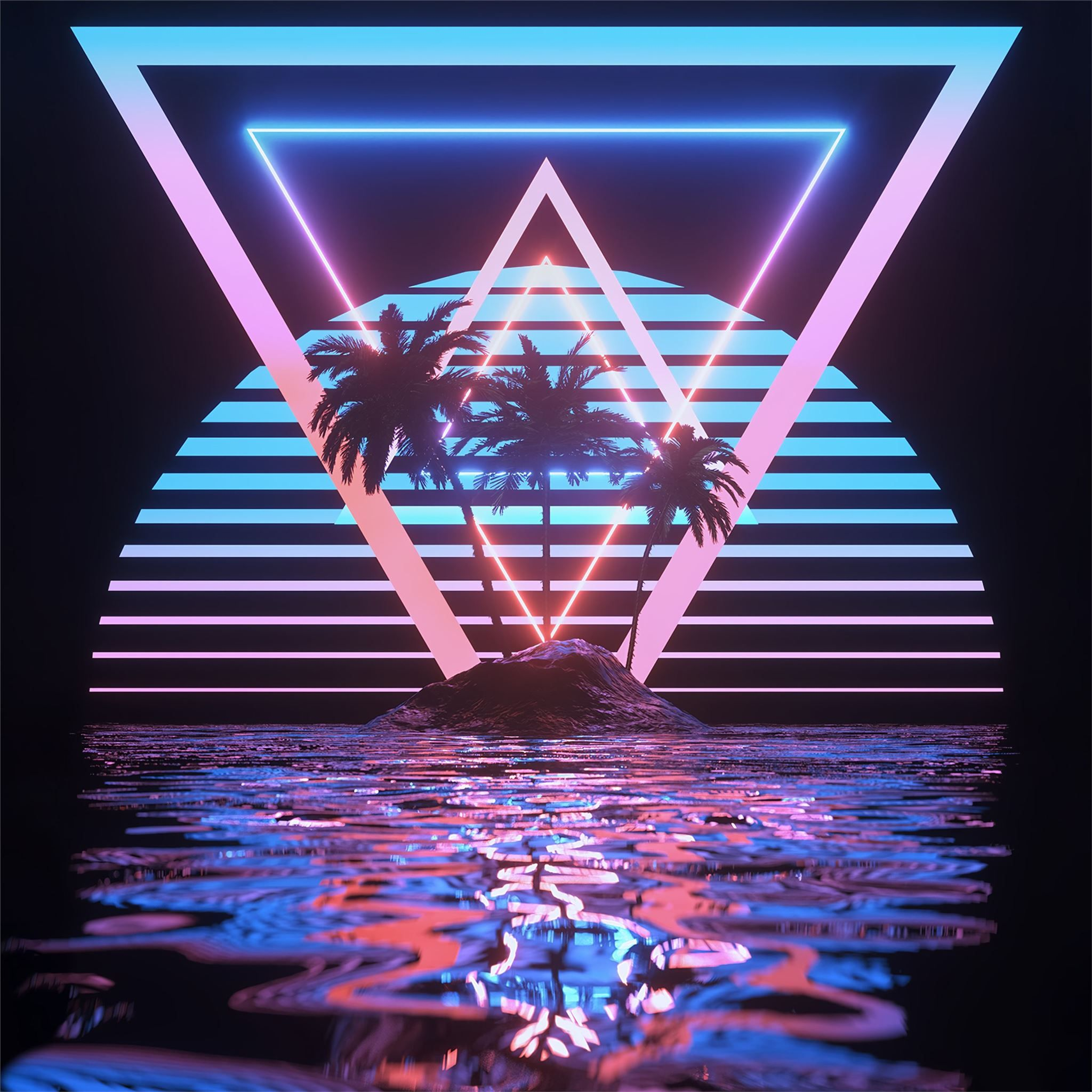 tropical paradise 4k #abstract #digitalart #4k in 2020 ...