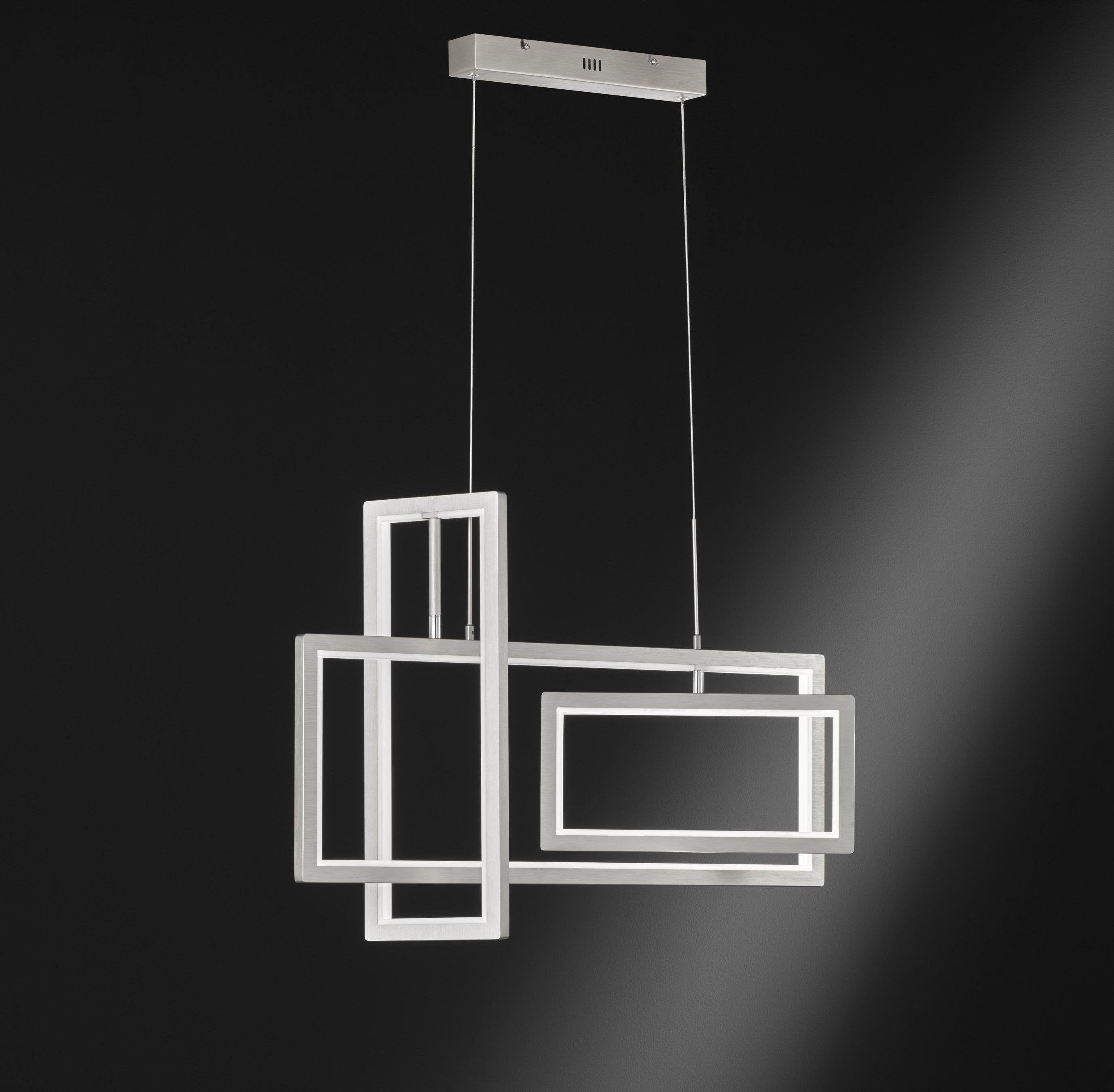 Lustre Moderne Metal Led Integree Wofi Led Suspension Design