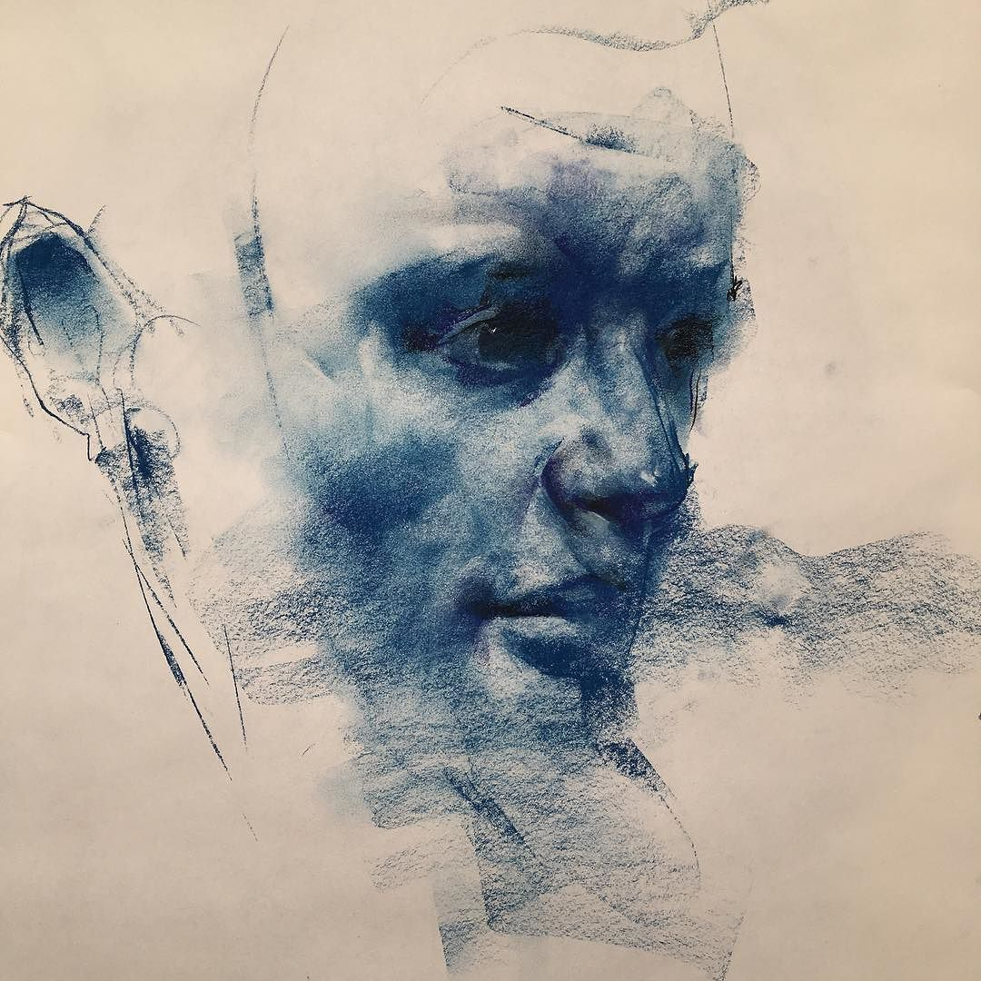Ahab Georgedawnay Drawing Conte Tumblr Strathmore Onpaper By