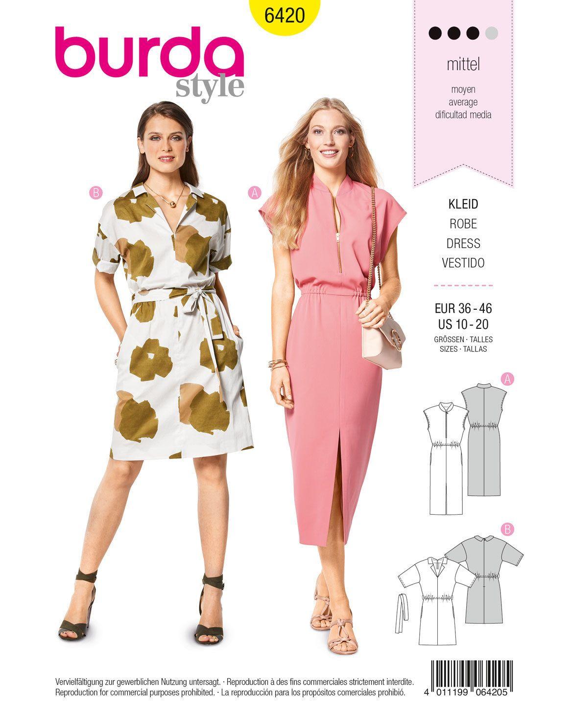 Blusen-Kleid F/S 2018 #6420B | Schnittmuster bluse, Blusen und ...