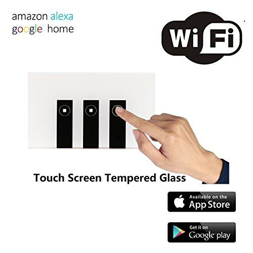 Smart WiFi Wall Switch Touch Panel Remote Control Lights and
