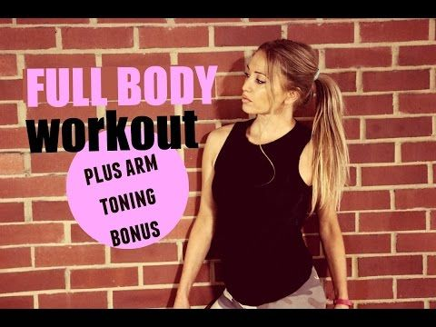 full body hiit workout with bonus arm toning workout