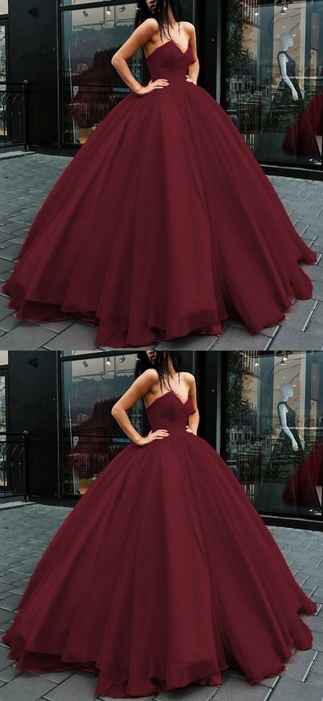 Vestido De Xv Color Rojo Vino En 2019 Vestidos De Xv Rojos