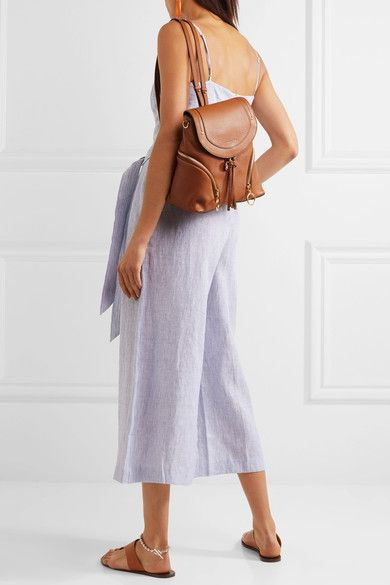 e4f01217 See by Chloé - Olga Textured-leather Backpack - Tan | Backpack ...