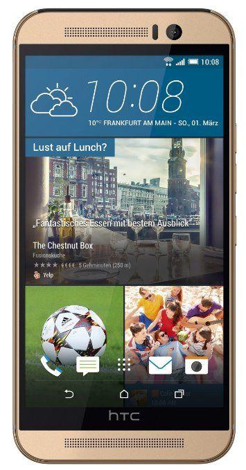 "HTC One M9 - Smartphone libre Android (pantalla 5"", cámara 20.7 Mp, 32 GB, 3 GB RAM), dorado (importado)"