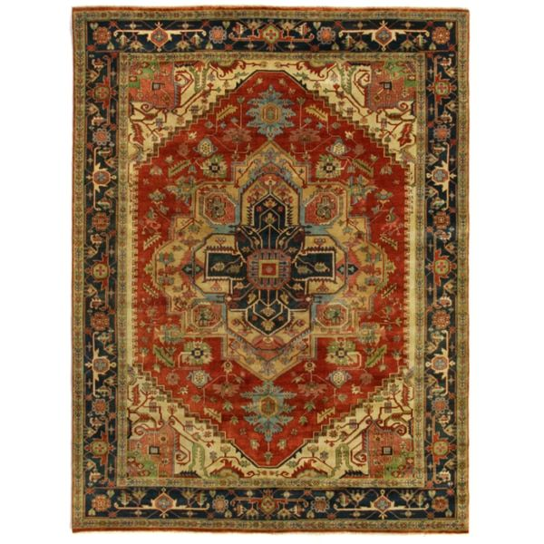 Exquisite Rugs Serapi Red/Black New Zealand Wool Rug (14' x 18')