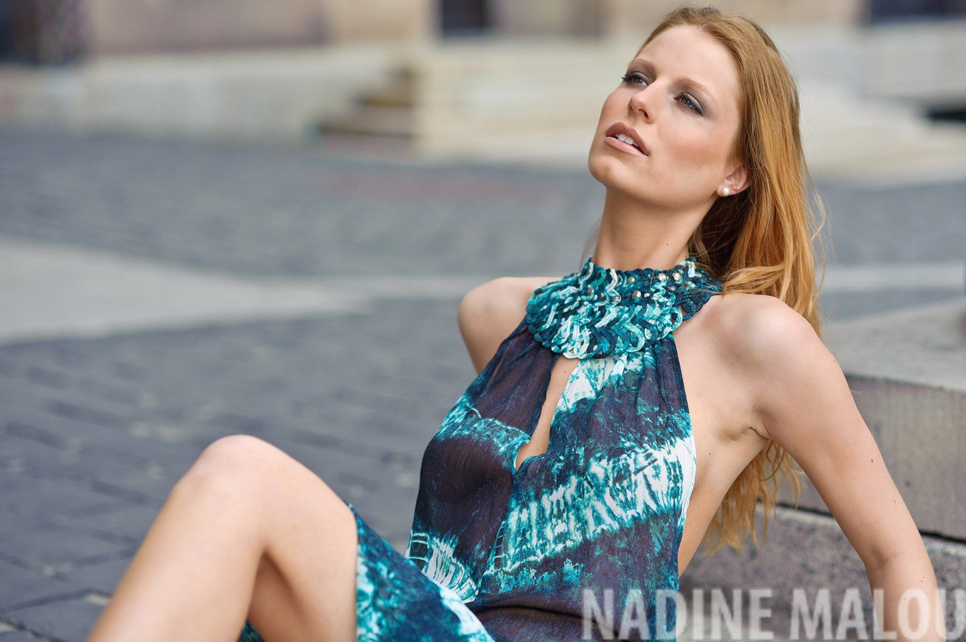 fashion model nadine outdoor shooting photography on the street