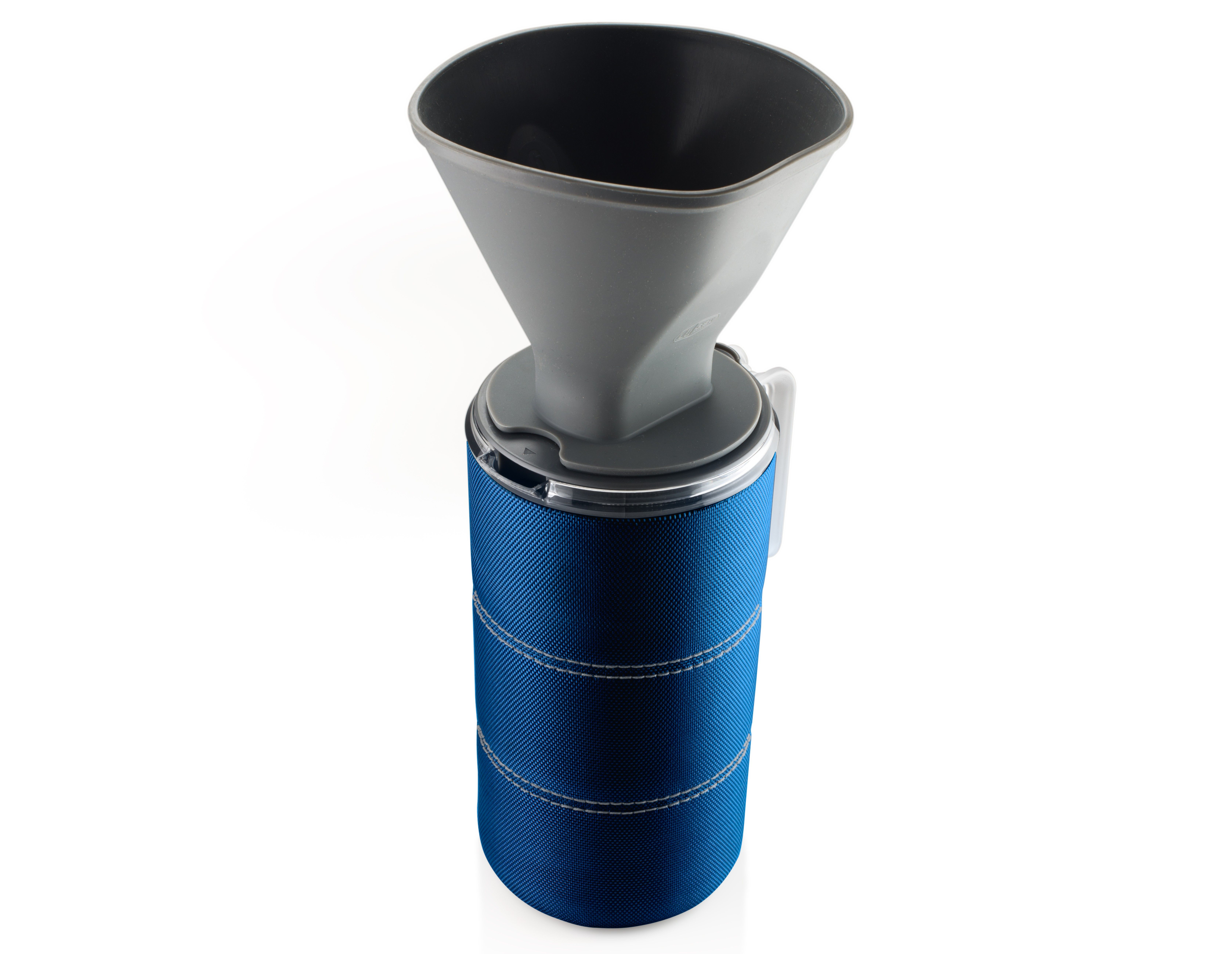 50 fl. oz. JavaDrip - Blue - The 50 fl. oz. JavaDrip brings the ease and familiarity of your home coffee maker wherever your adventures may take you. Be the hero of your camp when you whip up several instant cups of morning bliss with this portable coffee maker. Lightweight, BPA-Free, and shatter-resistant, it goes anywhere.