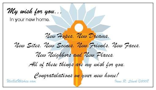 My wish for you in your new home | New home quotes, New home ...