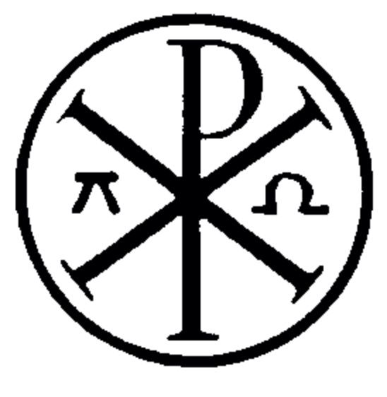 Chi Rho With Alpha And Omega In A Circle Symbol For Christ Within