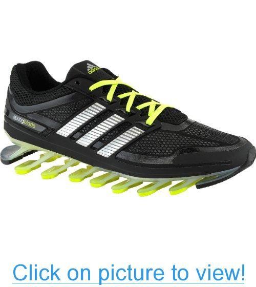 Uomini springblade scarpe adidas nero / verde uomini veri