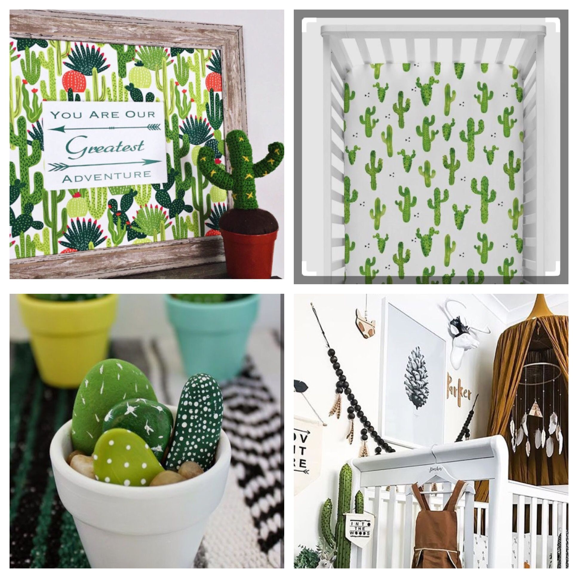 Cactus Nursery Decor, Modern Nursery Decor, Aztec Nursery ...