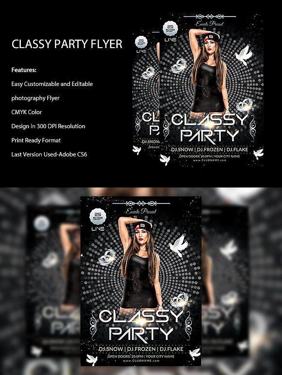 CLassy Night Flyer. Flyer Templates. $6.00