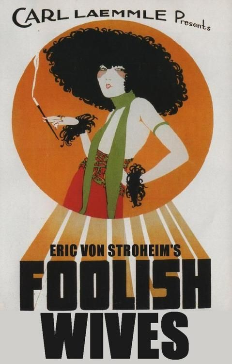 Advert for Foolish Wives Short Sleeve T-Shirt 1922