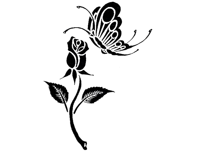 tribal butterfly vine tattoo designs free download