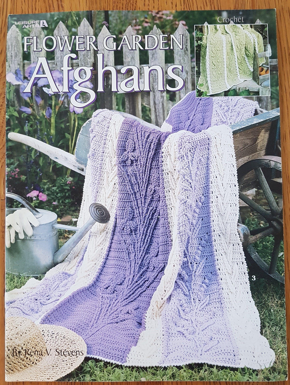 Flower Garden Afghans 6 Crochet Designs Leisure Arts 3258