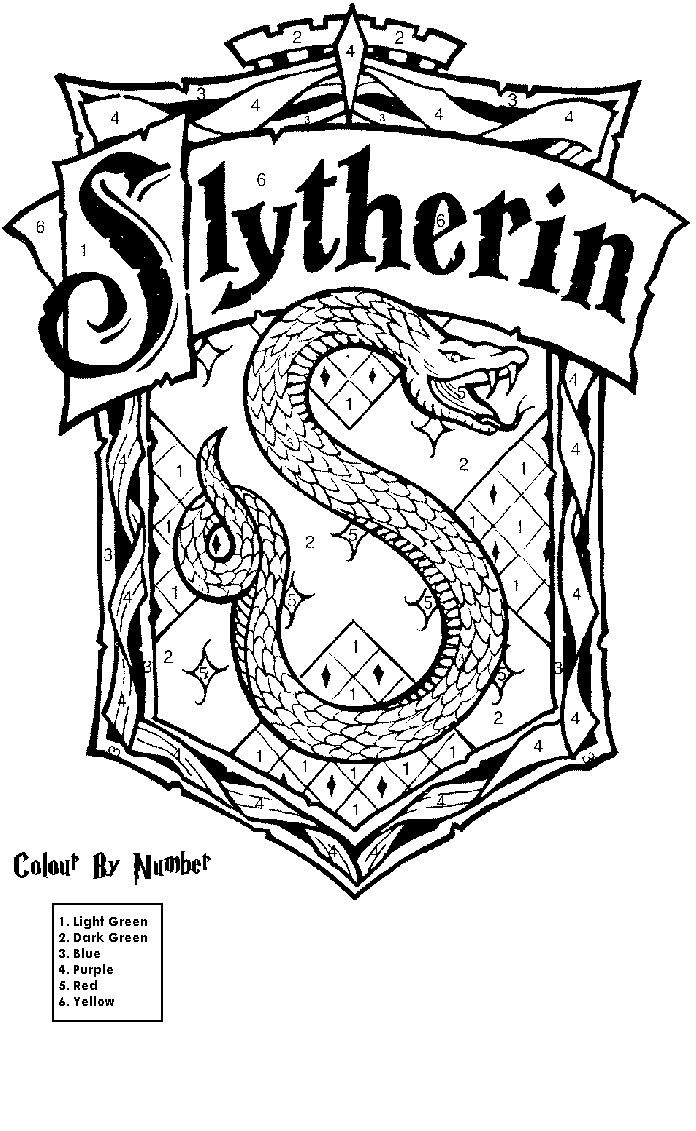 Harry Potter House Printable Coloring Pages Harry Potter Colors