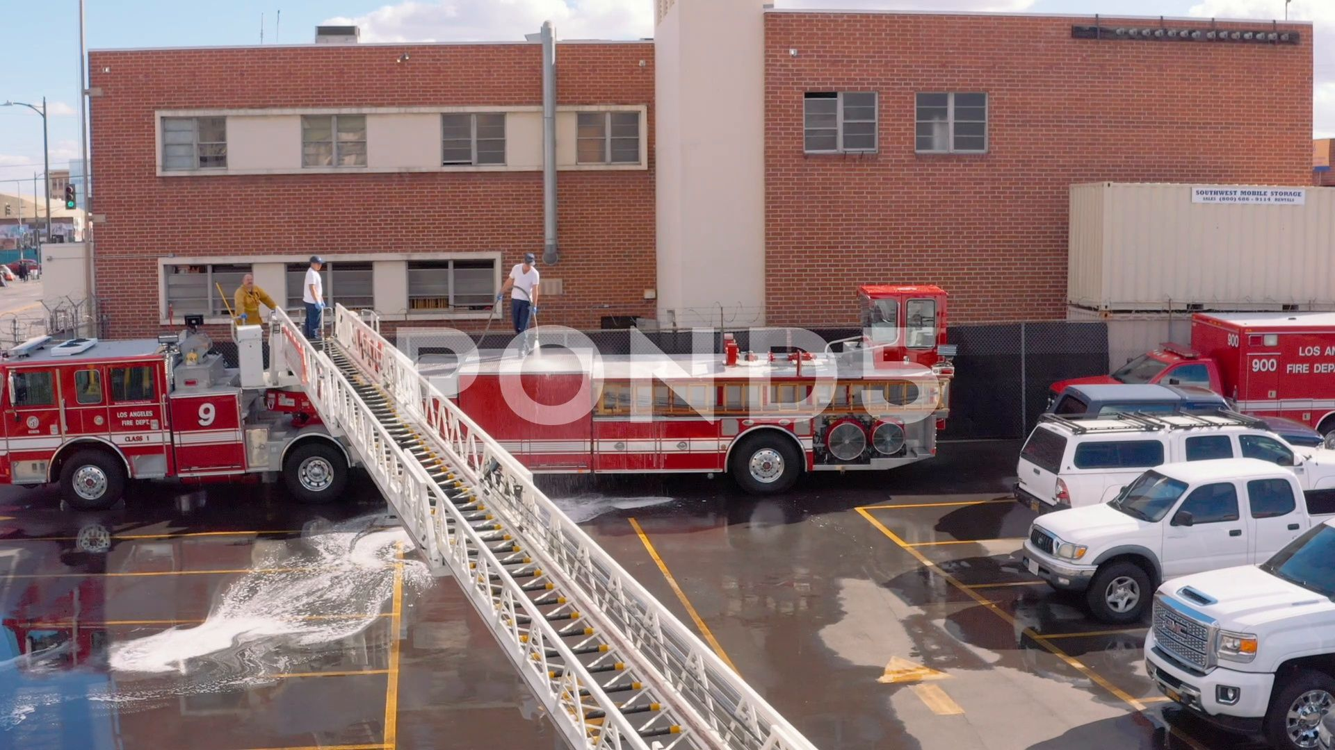 The Busiest Fire Station 9 In La Firefighters Washing Stock