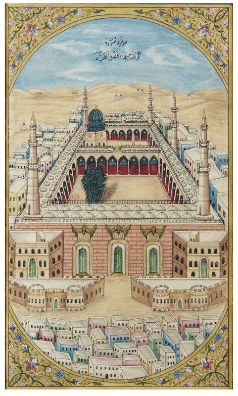 Painting Of Masjid Al Haram Mecca By Fateh Mohammed Mussawir Rajasthan India Circa 1880 Islami Sanat Sanat Resimleri Cizim Defterleri