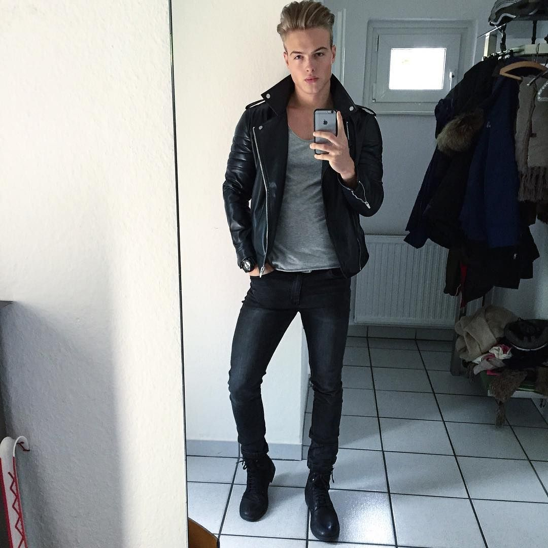 Leather Jeans And Men Richter Coole Outfits Zukunftiger Ehemann [ 1080 x 1080 Pixel ]