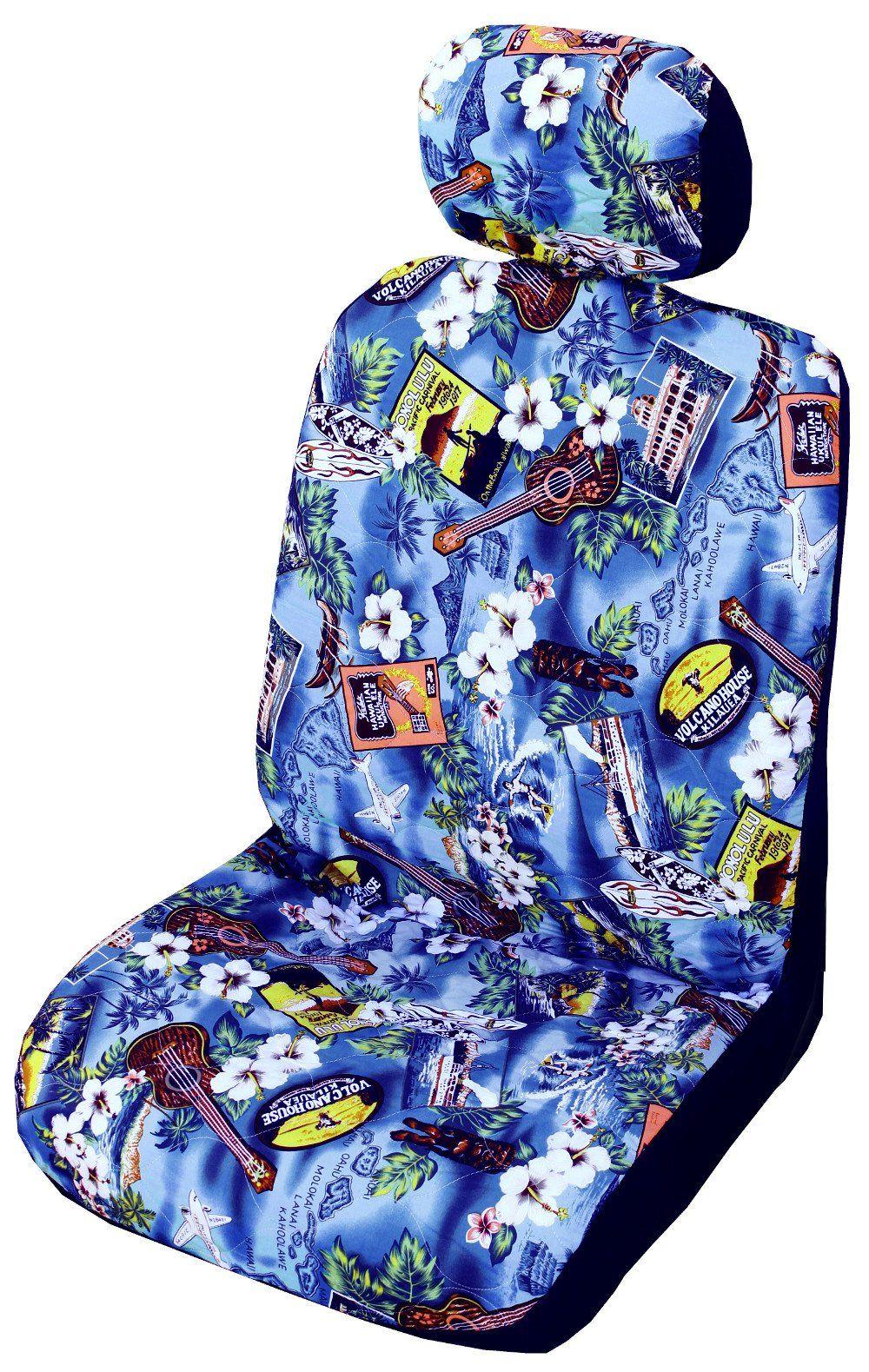 Blue Kona Music Hawaiian Separate Headrest Cover