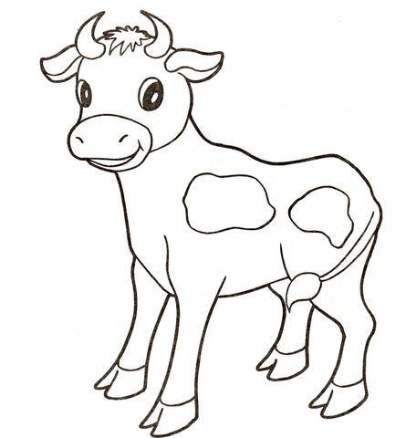 Baby Cow Coloring Page From Cows Category Select From 20946