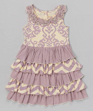 Look what I found on #zulily! Lavender Petunia Ruffle Dress - Infant, Toddler & Girls by Mustard Pie #zulilyfinds