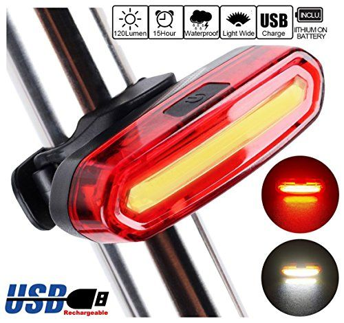Bike Light Taillight Safety Warning USB Rechargeable LED Bicycle Lamp Outdoor