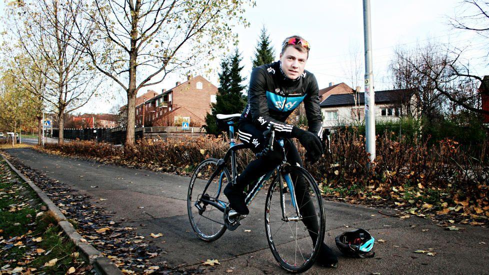 Edvald Boasson Hagen with his bike ;-)