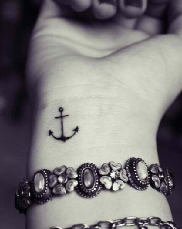 9ab3ab4f7b9b3 70 Lovely Tattoos for Girls | My next tattoo | Anchor tattoo wrist ...