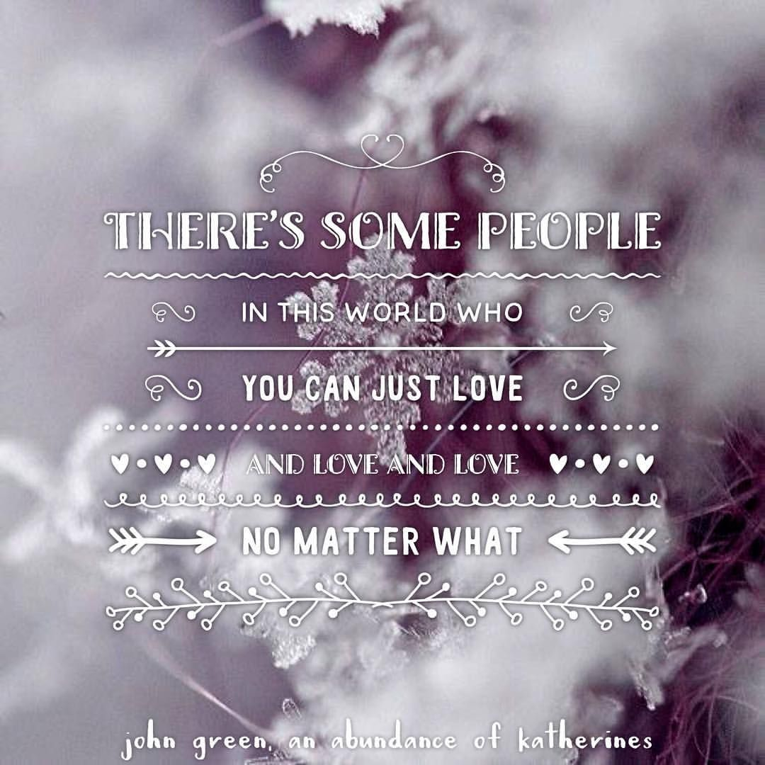 €�there's Some People In This World Who You Can Just Love And Love And Love