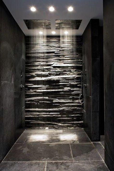 40 Clever Men Cave Bathroom Ideas Contemporary House Luxury Shower Stone Bathroom