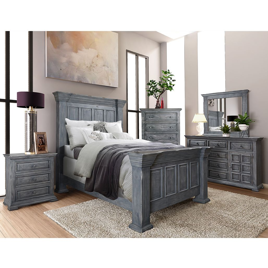 Marquis Grey Bedroom Set  Bedroom set, Grey bedroom set